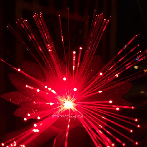 Dây Đèn LED Hoa Lan Hồ Điệp Đỏ