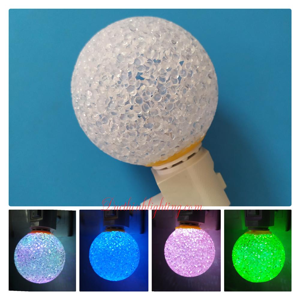 Đèn Ngủ Cầu LED Dạ Quang Đổi Màu