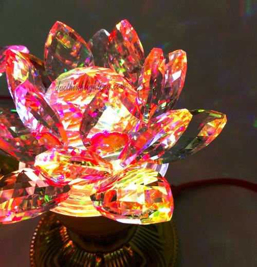 Đèn Sen Pha Lê LED Đổi Màu Số 7
