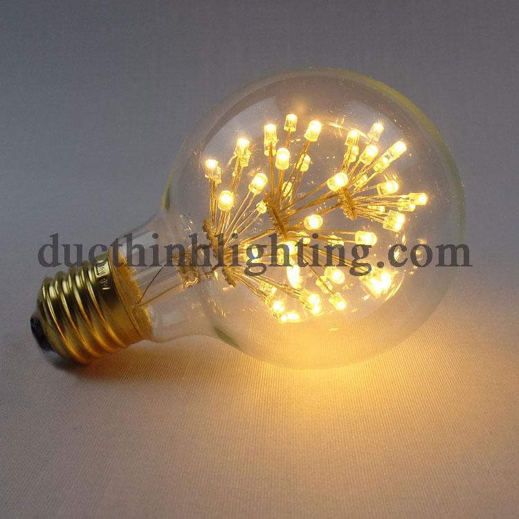 Bóng Đèn LED Edison G80 3 Tầng Bông
