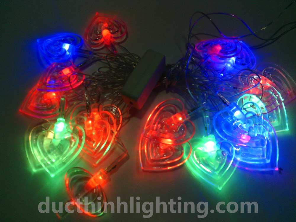 Dây Đèn Chớp LED Hình trái Tim