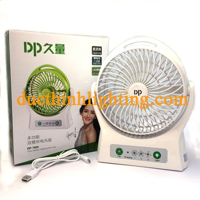 Quạt Sạc Mini DP-7605