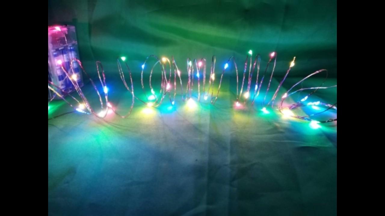 Đèn led dây fairy light có chớp đủ màu 4m