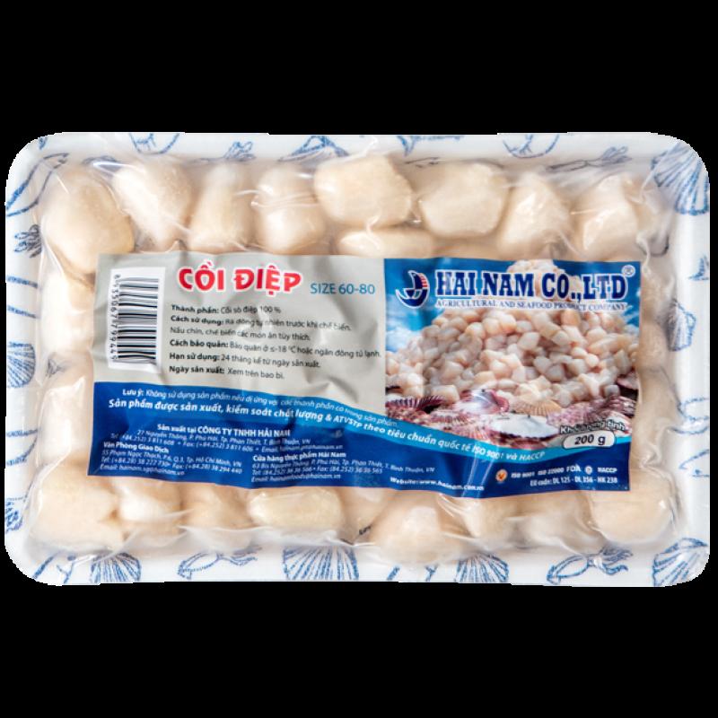 Cồi Sò Điệp 60-80 (200 Gram) - Hải Sản Sạch Phan Thiết - HAINAMFOODS