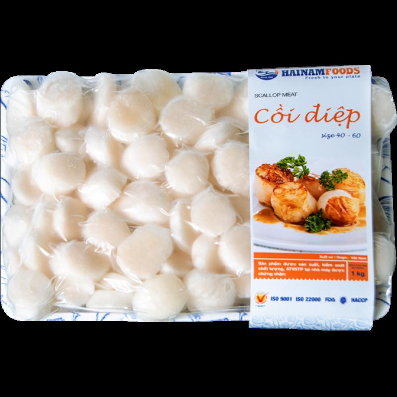 Cồi Sò Điệp Cỡ Lớn 40-60 (1 kg) - Hải Sản Sạch Phan Thiết - HAINAMFOODS