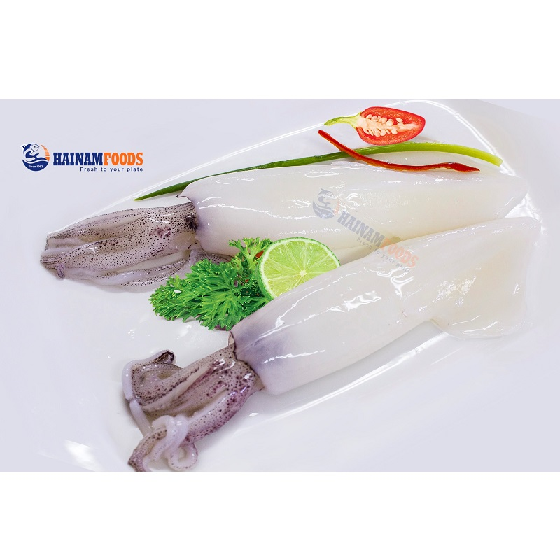 Mực Ống Nguyên Con Làm Sạch 6-8cm - Hải Sản Sạch Phan Thiết