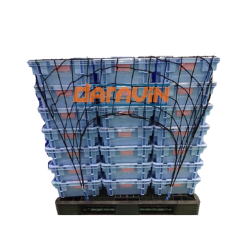 Lưới thun ràng pallet KT 1.0x1.2m phi 4 mắt 10cm móc snap