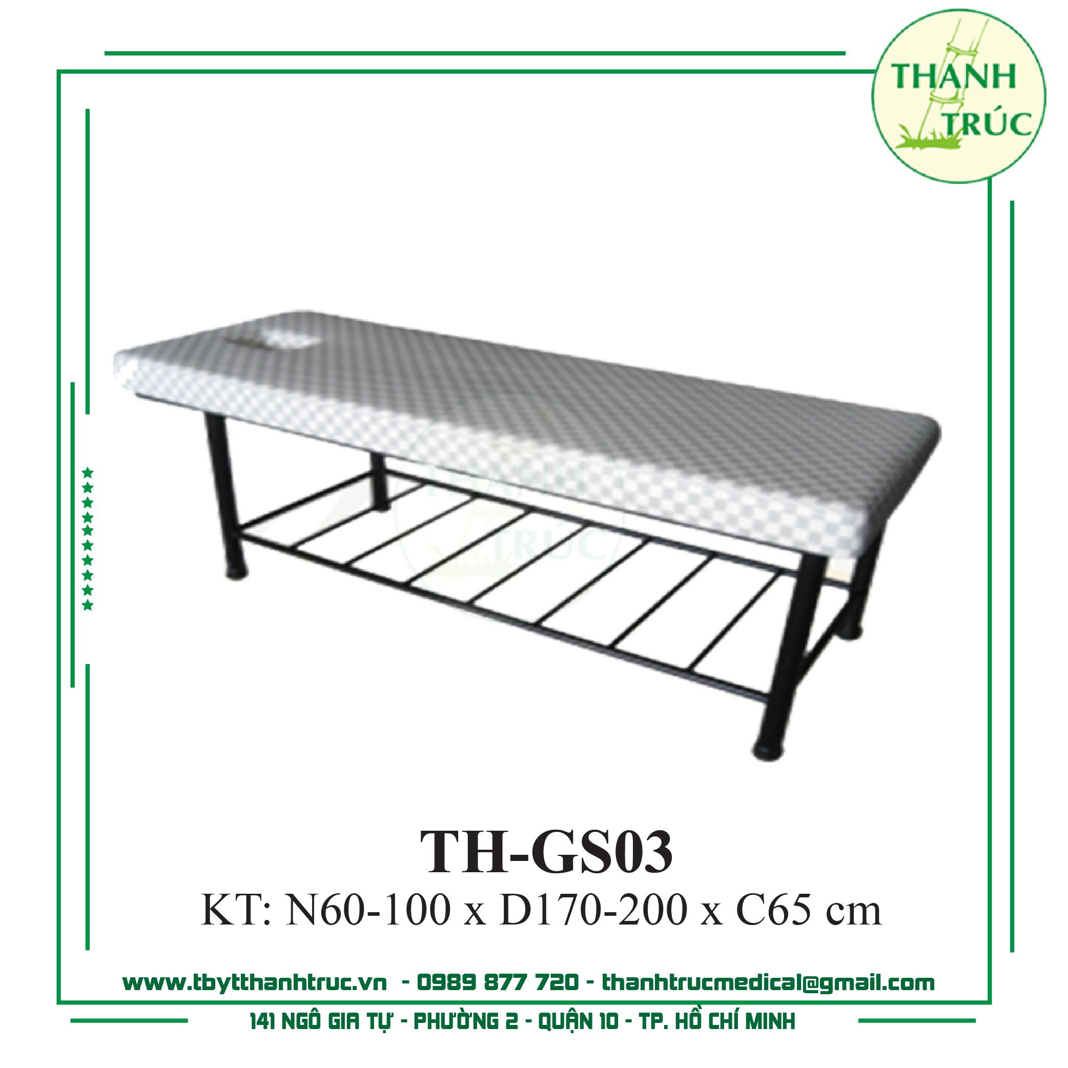 GIƯỜNG MASSAGE SẮT TH-GS03