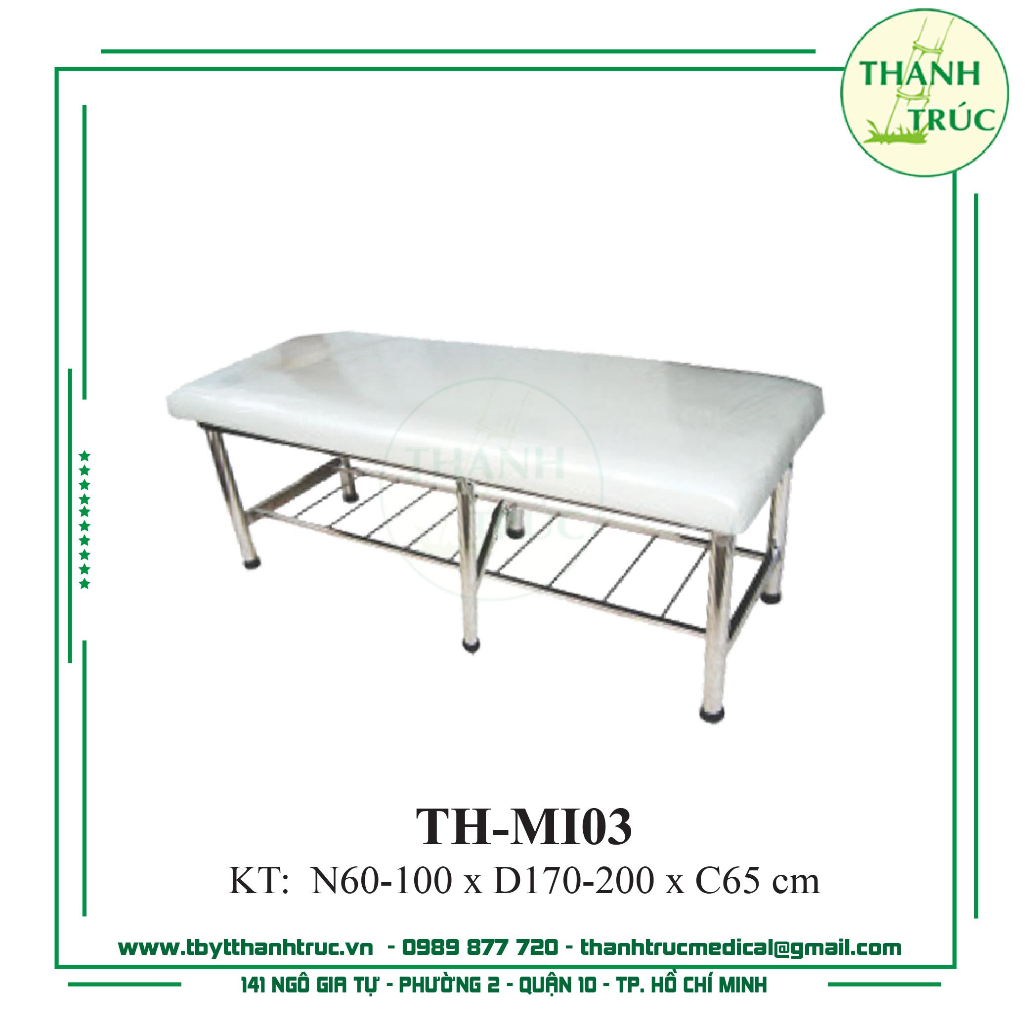 GIƯỜNG MASSAGE INOX TH-MI03