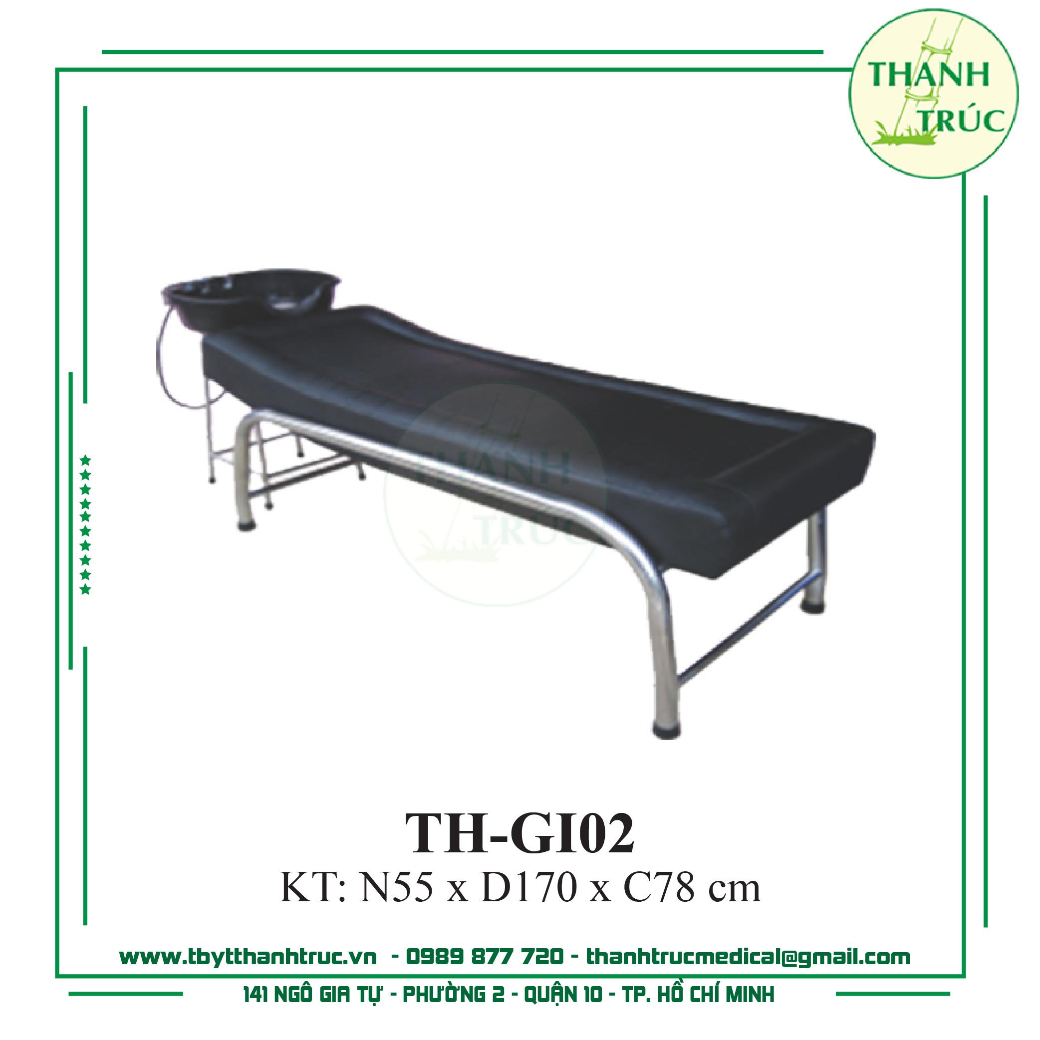 Giường gội inox TH-GI02