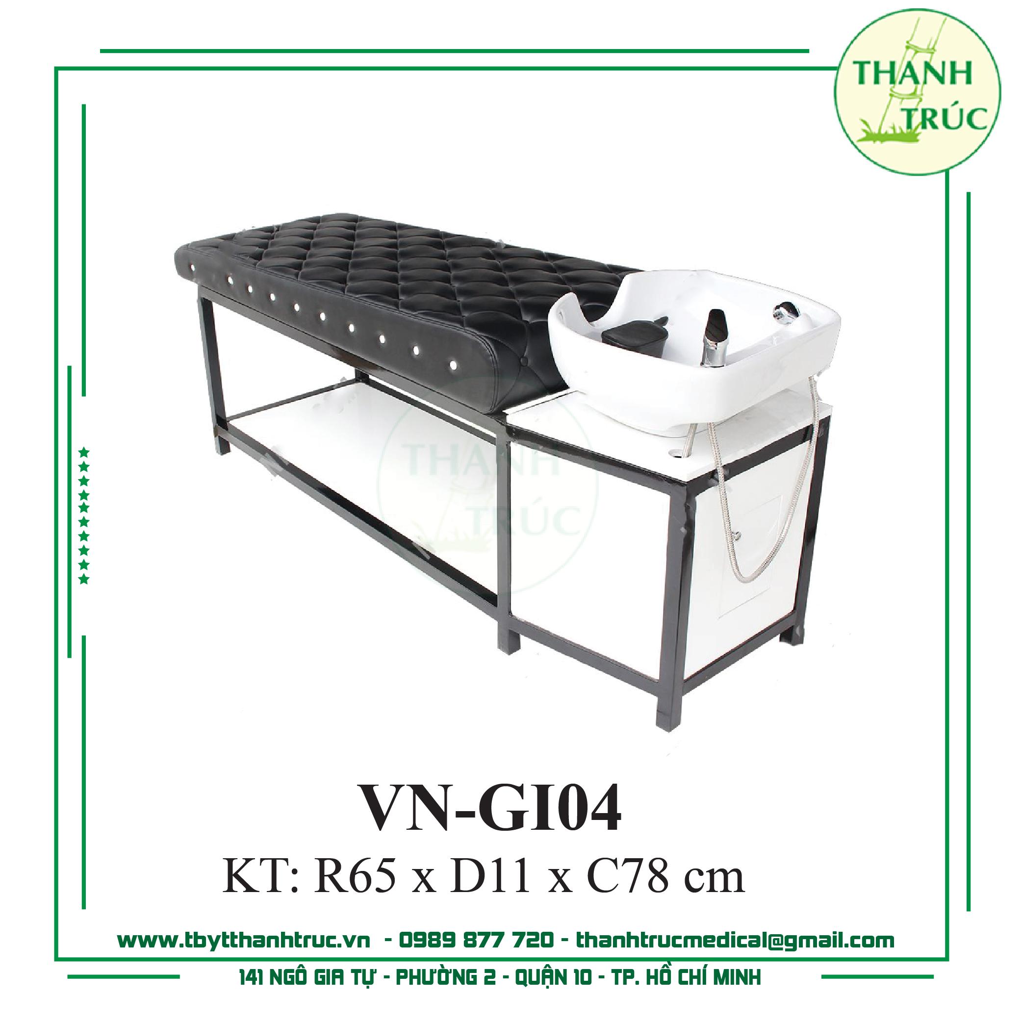 Giường Gội Inox VN-GI04