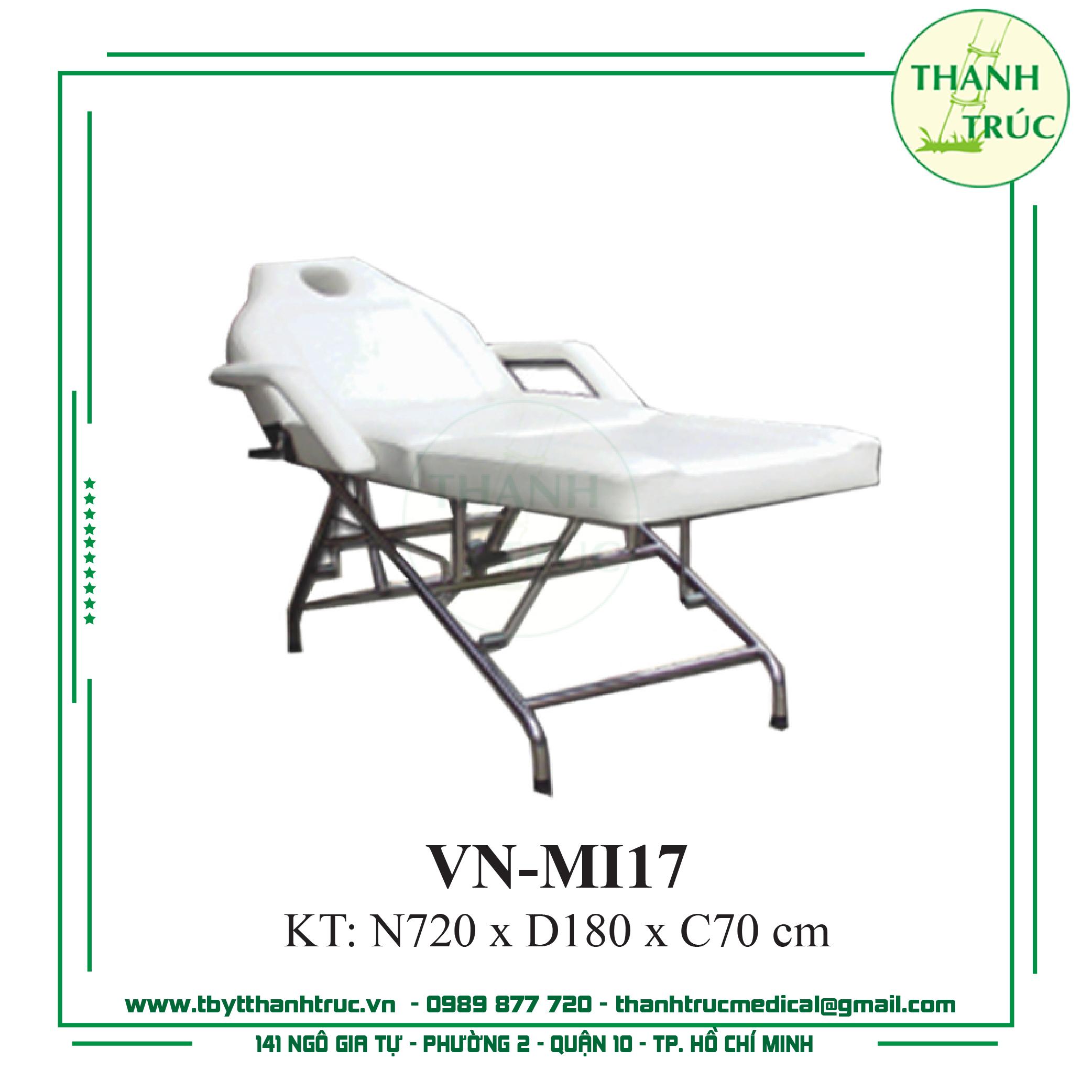 GIƯỜNG MASSAGE INOX VN-MI17