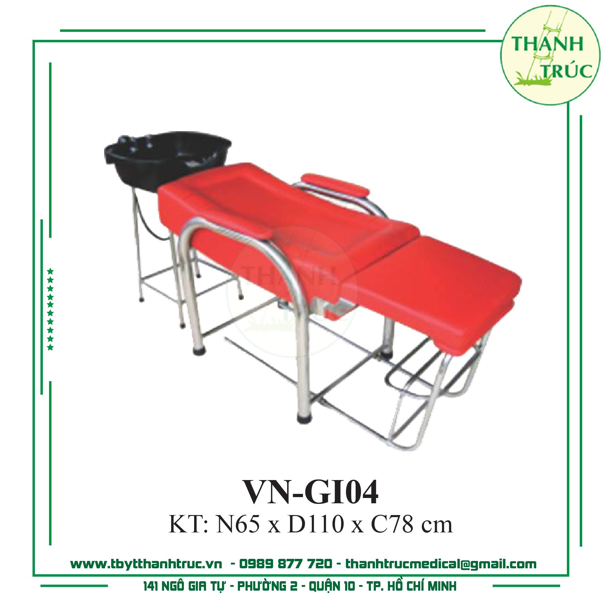 Giường Gội Inox VN-GI05