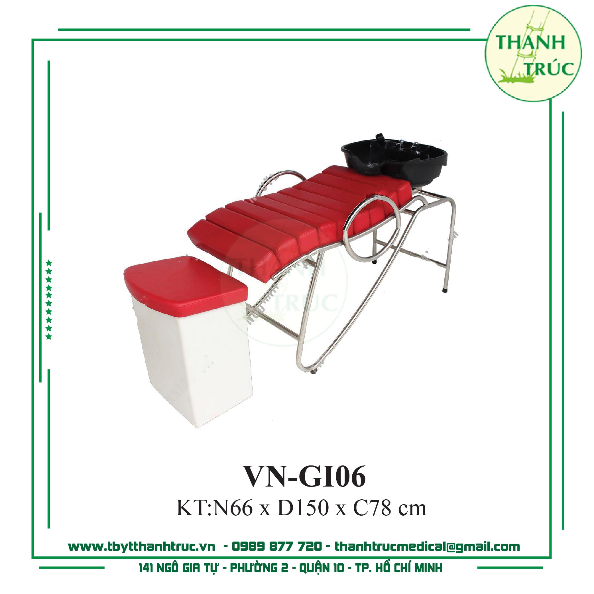 Giường Gội Inox VN-GI06