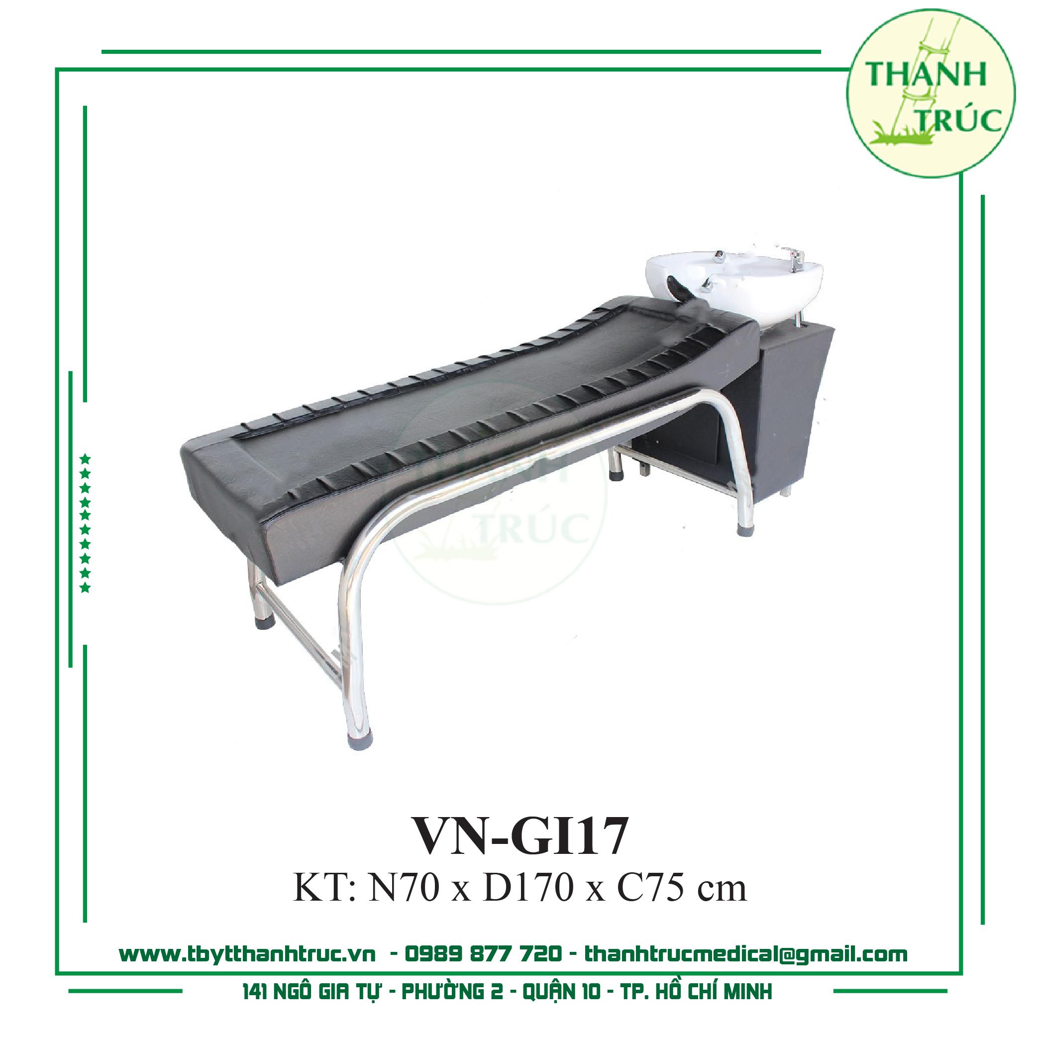 Giường Gội Inox VN-GI17