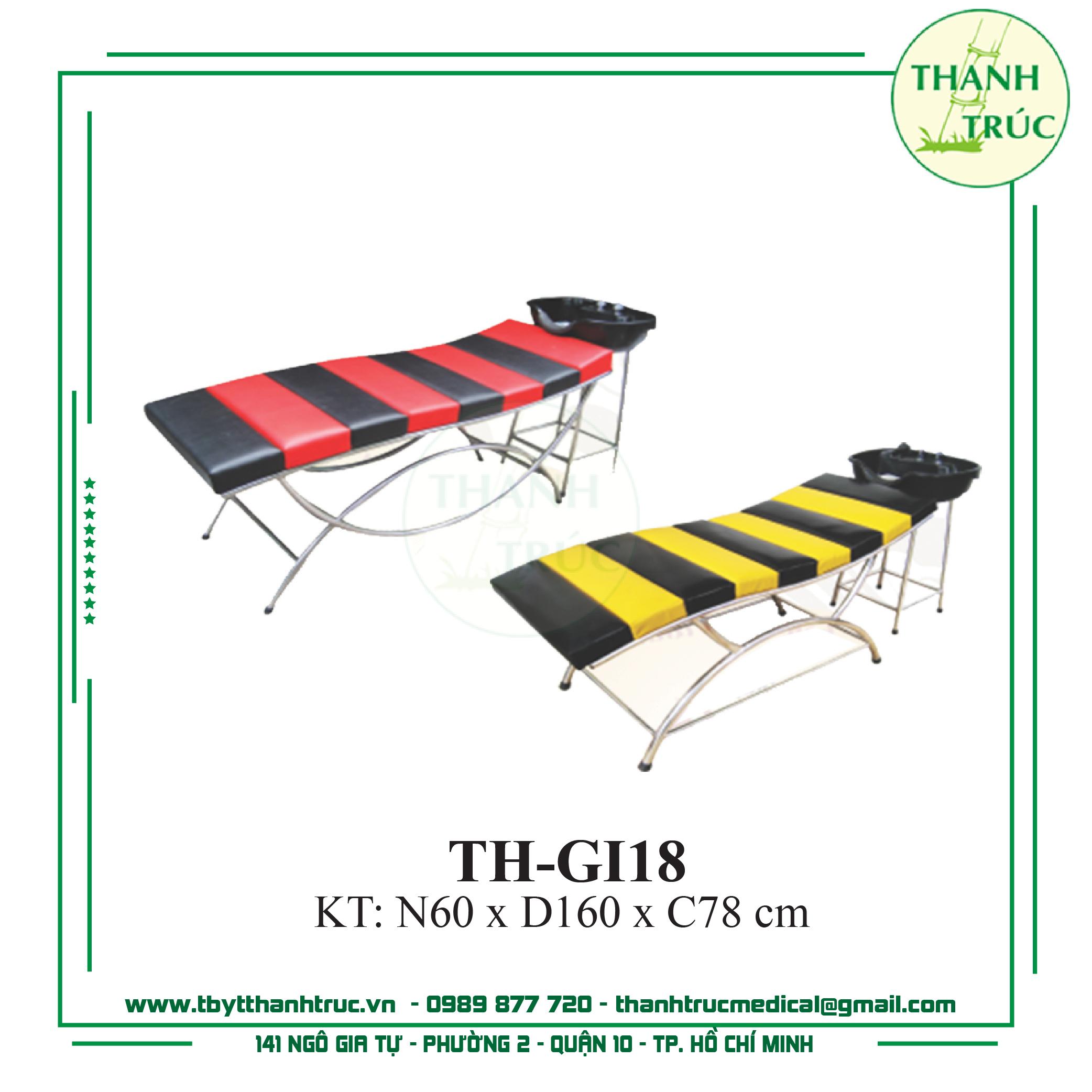Giường Gội Inox TH-GI18