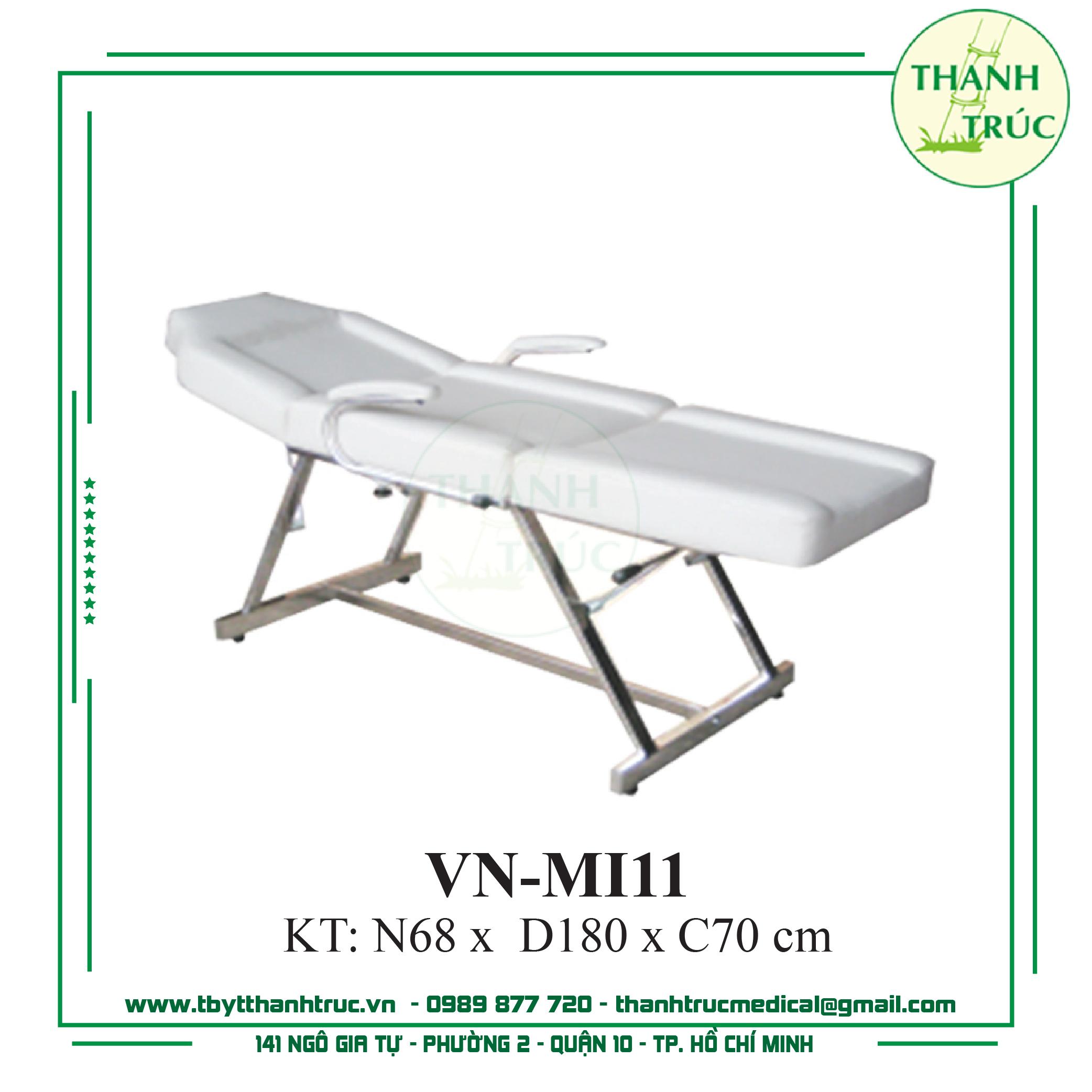 GIƯỜNG MASSAGE INOX VN-MI11
