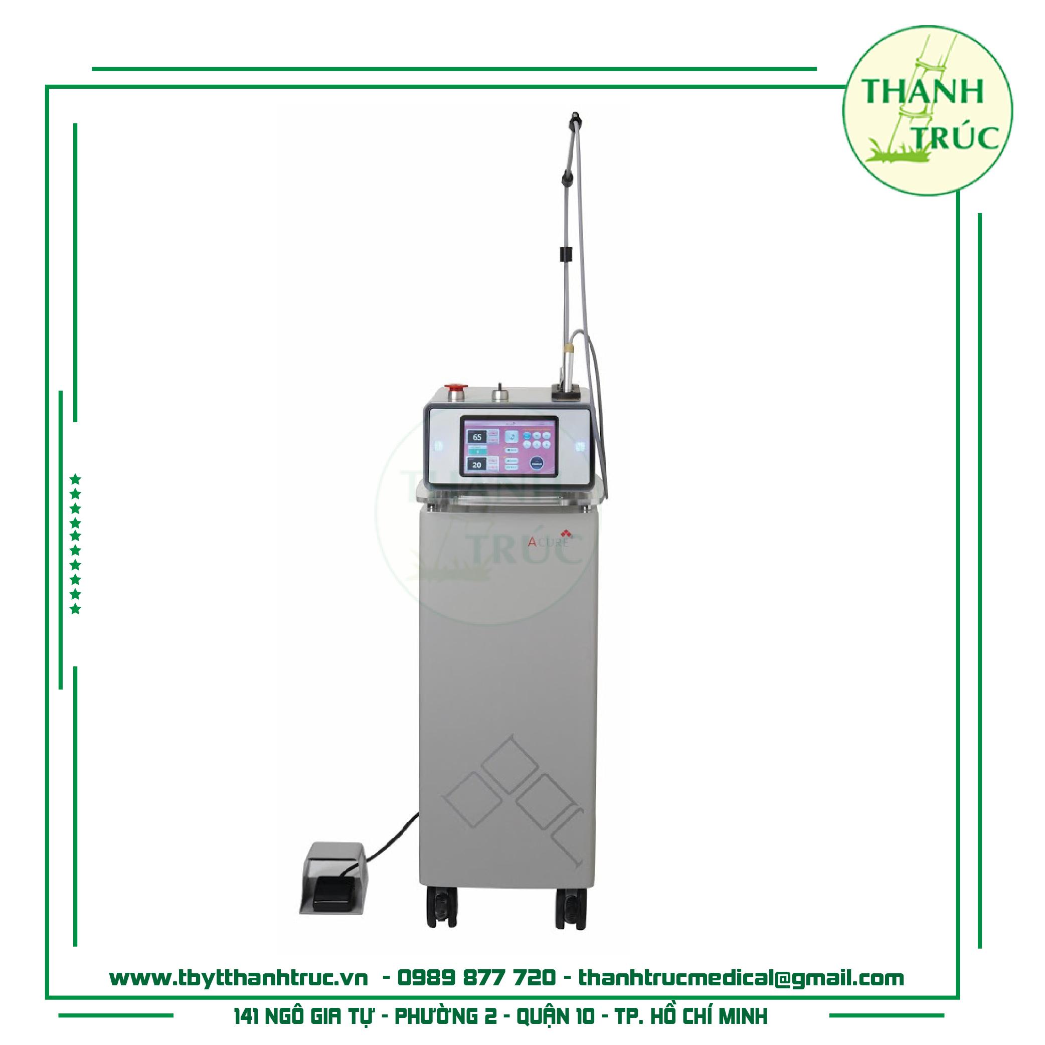 Máy laser Acure điều trị mụn tận gốc