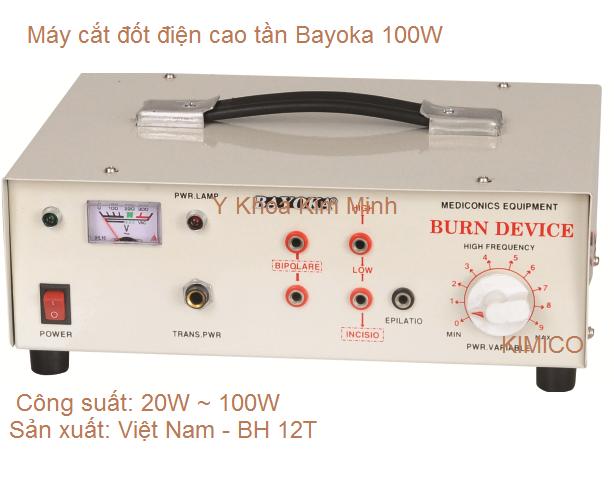 Máy cắt đốt phẩu thuật cao tần Bayoka 100W