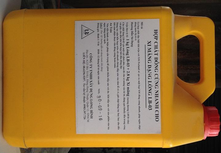 Phụ gia xi măng ngăn rỉ nước LB-03