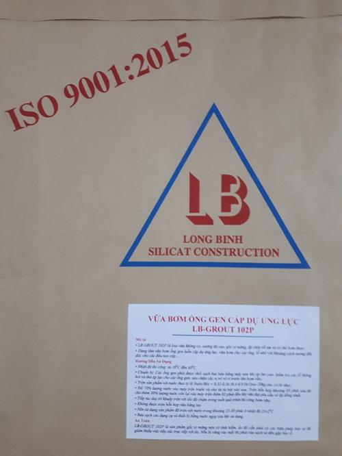 VỮA BƠM ỐNG CÁP DỰ ỨNG LỰC LB-GROUT 102P