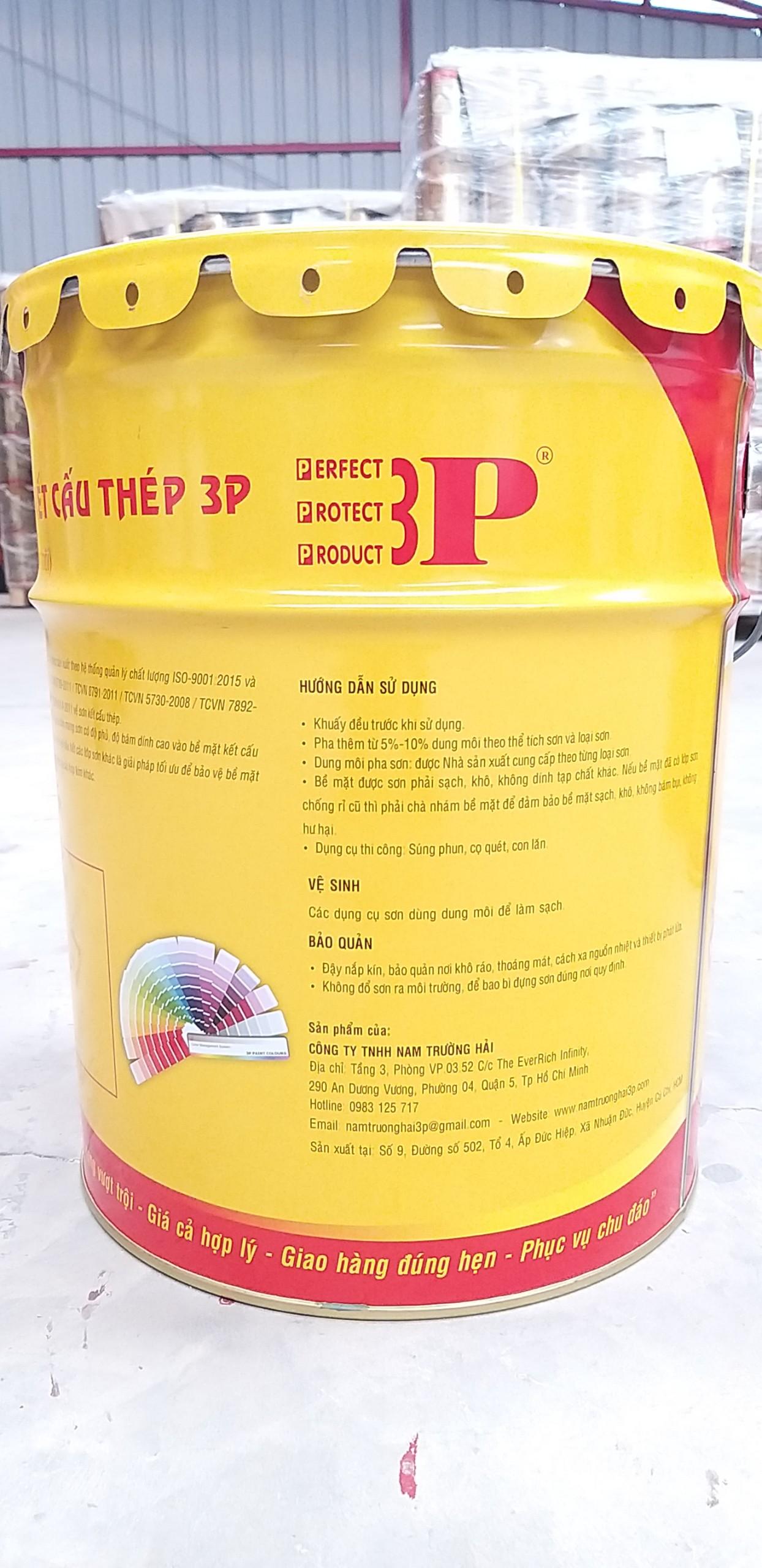 Sơn phủ AC2K 3P - Xám/ 20kg/bộ