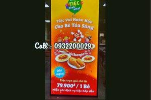Khung mica trong quảng cáo đồ ăn