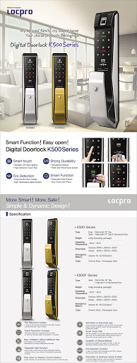 Khóa cửa điện tử LOCPRO K500 ( Brozen )