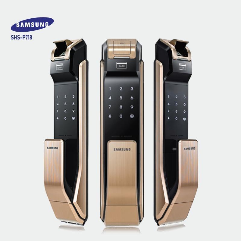 Khóa cửa vân tay SAMSUNG SHS-P718 ( Gold )