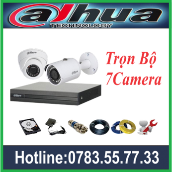 Trọn Bộ 07 Camera Dahua 2.0MP