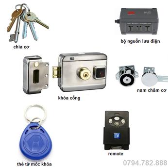 Bộ khóa cổng điện tử Gate - TH1