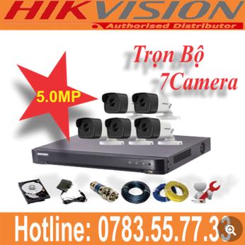 Trọn Bộ 07 Camera Hikvision 5.0mp