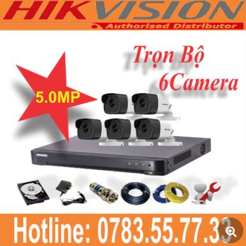 Trọn Bộ 06 Camera Hikvision 5.0mp