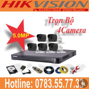 Trọn Bộ 04 Camera Hikvision 5.0mp