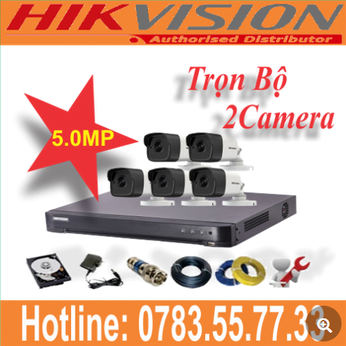 Trọn Bộ 02 Camera Hikvision 5.0mp