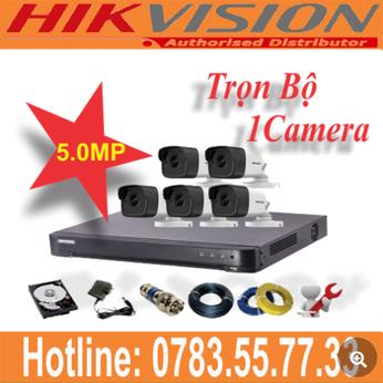 Trọn Bộ 01 Camera Hikvision 5.0mp