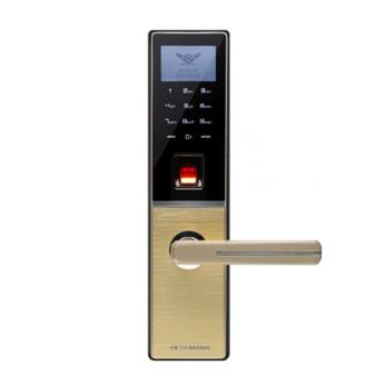 Khóa cửa vân tay kết hợp mã số DESSMANN G810FP Gold