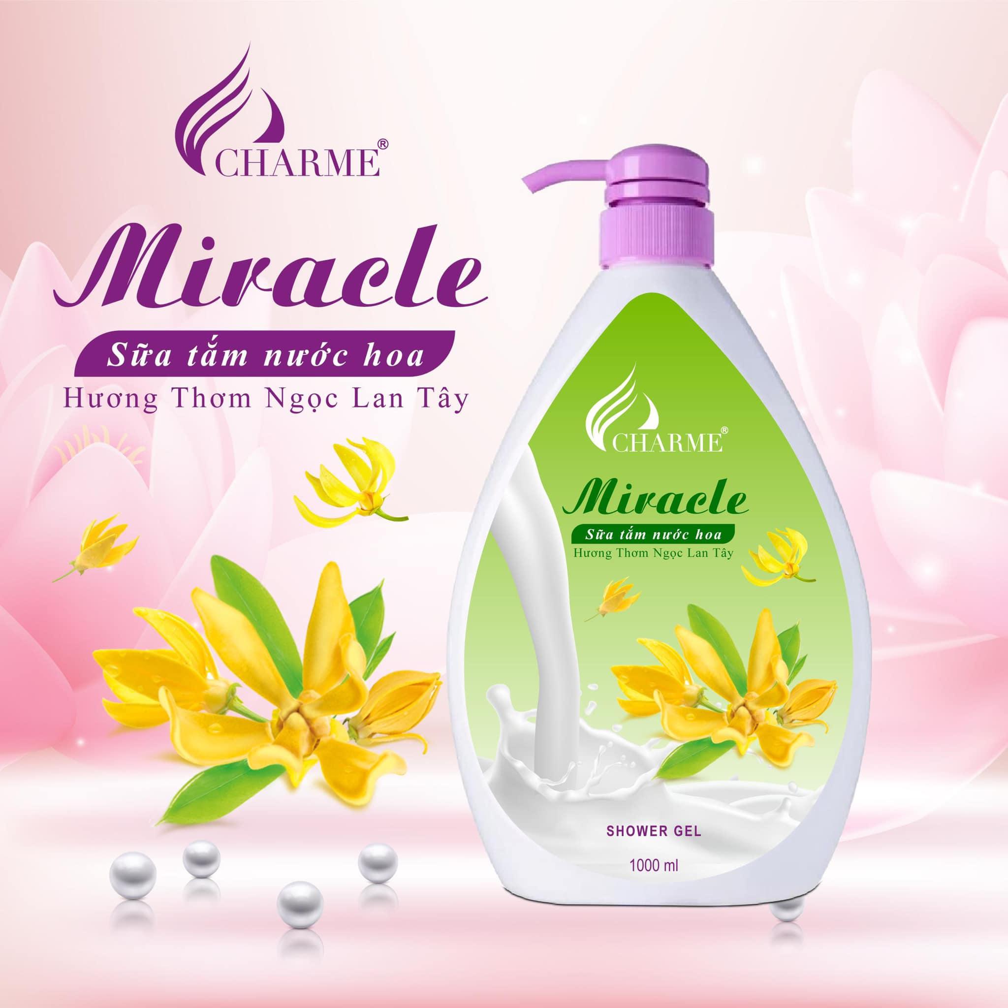 Sữa Tắm Nước Hoa Charme Miracle 1000ml Cho Nữ Chính Hãng✅Tặng Quà Hot