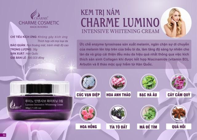 Kem Trị Nám Charme Lumino 30Gram
