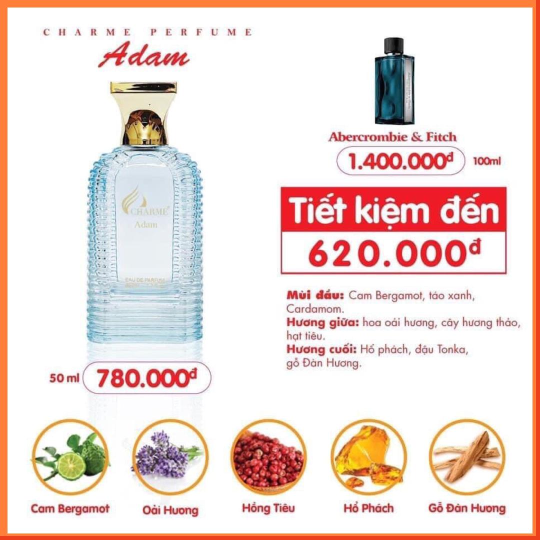 Nước Hoa Charme Adam 50ml Nam Chính Hãng✅Tặng Quà Hot