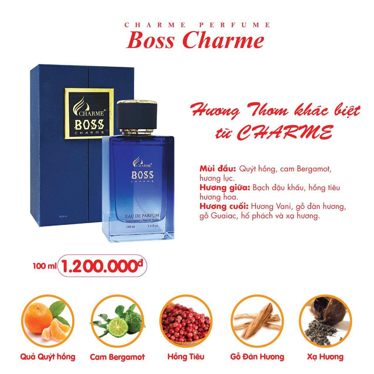 Nước Hoa Charme Boss Charme 100ml Nam Chính Hãng✅Tặng Quà Hot