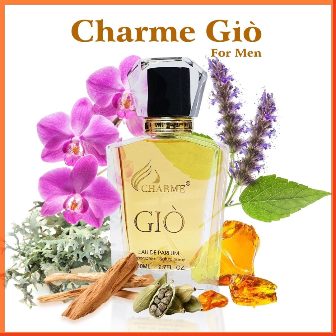 Nước Hoa Charme Giò 80ml Nam Chính Hãng✔️Tặng Chai 10ml