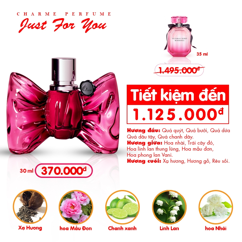 Nước Hoa Charme Nữ - Charme Just For You 30ml