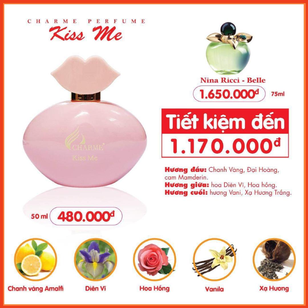 Nước Hoa Charme Kiss Me 50ml Nữ Chính Hãng✅Tặng Quà Hot