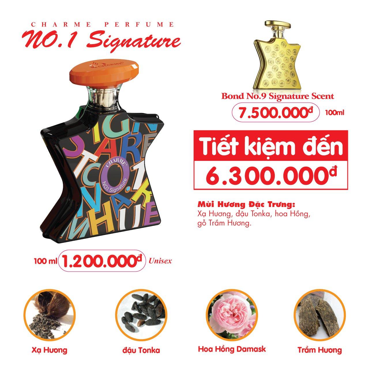 Nước Hoa Charme No.1 Signature 100ml Unisex Chính Hãng✅Tặng Quà Hot