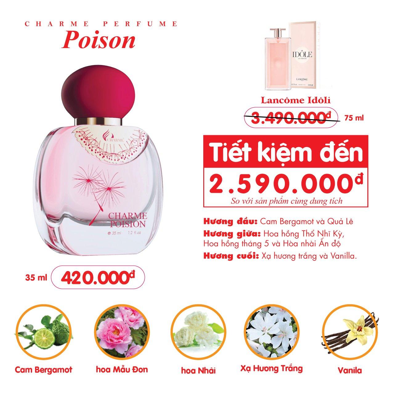 Nước Hoa Charme Poison 35ml Nữ Chính Hãng✔️Tặng Quà Hot