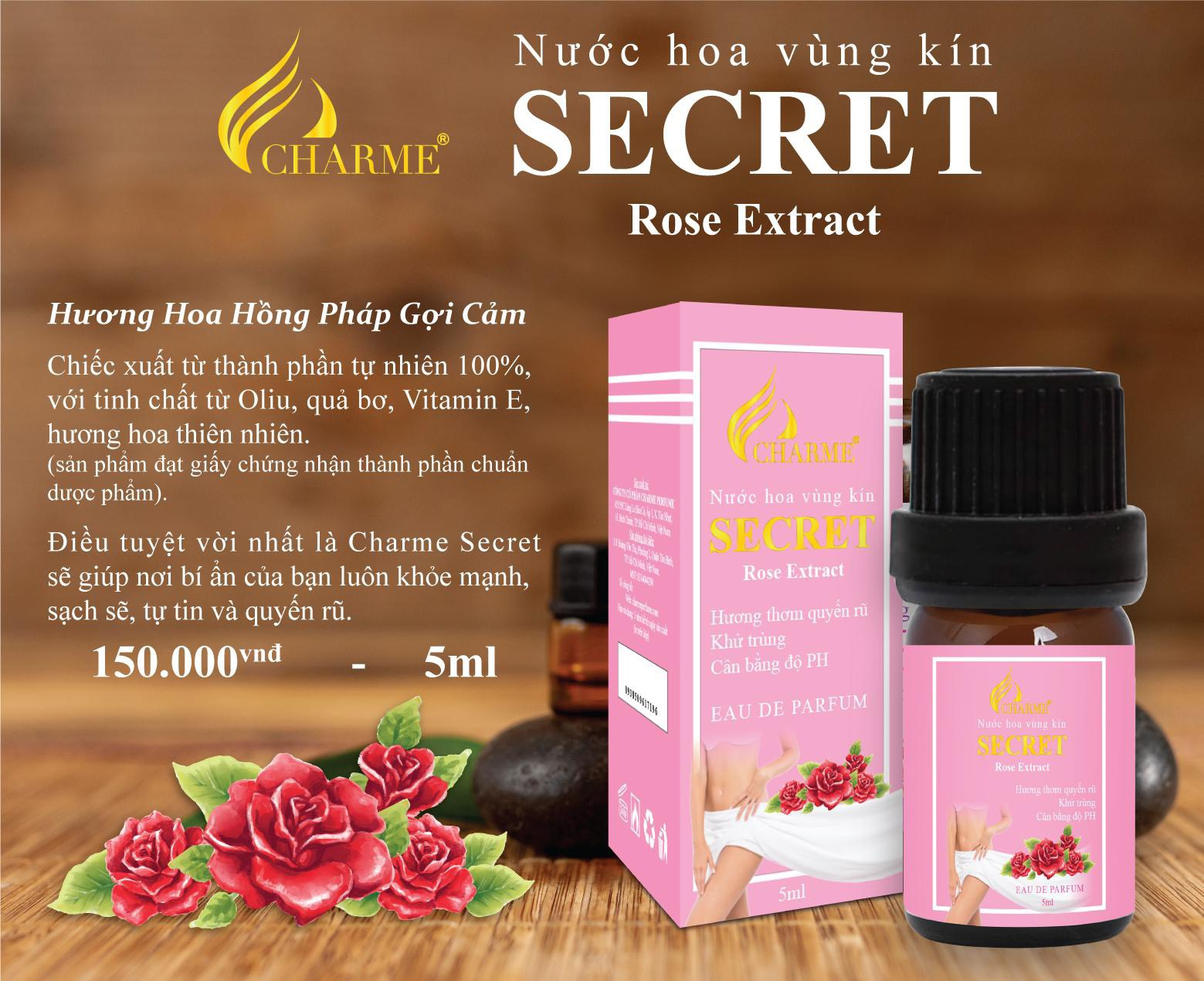 Nước Hoa Vùng Kín Charme Secret Rose Extract