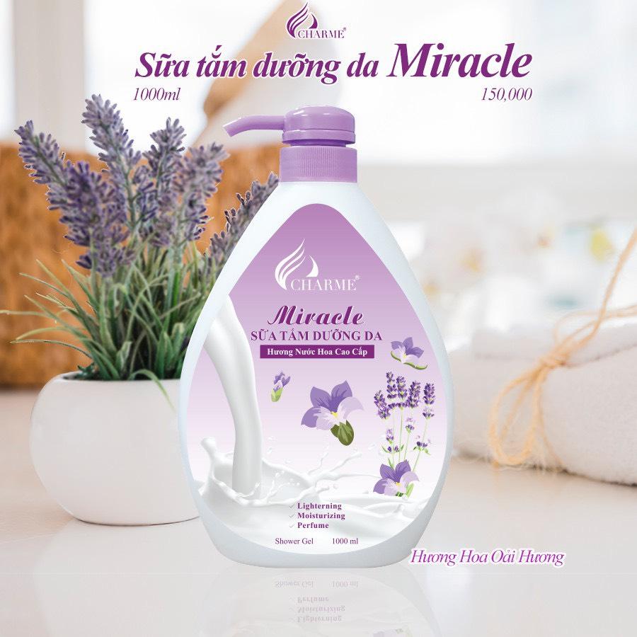 Sữa Tắm Nước Hoa Charme Miracle 1000ml Cho Nữ Hương Lavender