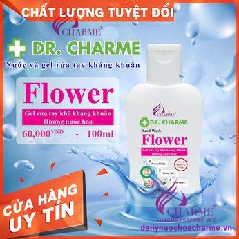 Nước Rửa Tay Khô DR. CHARME Flower 100ml Hương Nước Hoa