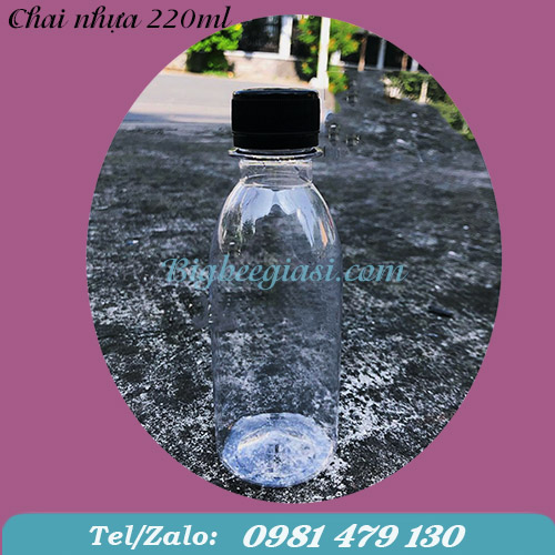 CHAI NHỰA PET TRÒN 220ML